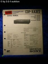 Sony Service Manual CDP XA3ES CD Player (#2289)