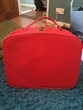 Rétro vintage 1950s 60s rouge vanity case valise rockabilly pin up marilyn monro