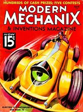 ART PRINT SCIENCE MAGAZINE COVER MODERN MECHANIX ELECTRIC EYE CAR USA NOFL1040