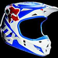 Helmet Cross Enduro DH Fox V1 Race Blue White Rosso helmet helmet Size L