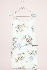 NEW! brandy melville white floral v neck Taliyah slip Dress NWT XS/S