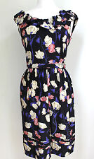 PRADA Black Floral Frill Neck Dress Resort 2008 IT 42 uk 10