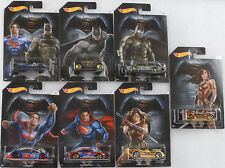 Movie Batman vs. Superman Serie Set 7 pcs 1:64 Hot Wheels USA DJL47