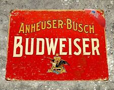 "TIN SIGN ""Budweiser"" Beer Metal Decor Wall Art Man Cave Bar A264"