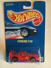 1992 Hot Wheels Ferrari F40 #69, Blue Card