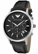 Emporio Armani Classic Watch Black / Silver Quartz Analog Men's Watch AR2447