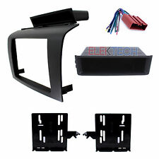 Radio Replacement Dash Install Kit Single/Double-DIN w/Pocket/Harnes for Mazda 3