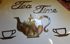 Tea Time Set METAL ART WALL DECORATION COPPER/BRONZE PLATED