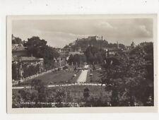 Salzburg Mirabellgarten Mit Festung Austria Vintage RP Postcard 848a