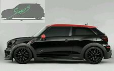 Mini Black out De-chrome beltline tape Paceman. Cooper, JCW, GP