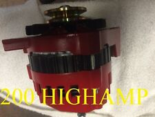 RED HIGH OUTPUT ALTERNATOR FIT CHEVY Caprice GM 200 AMP 1-WIRE 1965-1985 Camaro