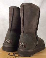 UGG Classic Short Boots Sheepskin Suede 5825 Black Grey Chocolate Brown Boots