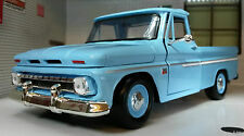 G LGB 1:24 Scala 1966 C-10 Fleetside Camion Pick-up Blu camion Modellino 73355