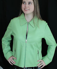 COUJOTE D'ITALIA ITALY BUTTERY SOFT LEATHER SPRING GREEN JACKET COAT M 46 10 12