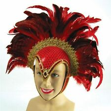 Feather Headdress - Dance Show Mardi Gras Notting Hill Carnival Costume - BA071A