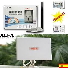 ★ANTENNA WIFI ALFA 1.1000MW, AWUS036H + PANEL 25DBI SHIPMENTS FROM SPAIN 24Hrs