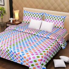 SYK Soft Cotton Double Bed sheet,Bedsheets with 2 Pillow Cover (069)-POLKA DOTS