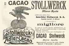 Y2176 Cacao Stollwerck marca Aquila - Pubblicità del 1903 - Old advertising