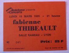 FABIENNE THIBEAULT USED TICKET CONCERT LYON 18 MARS 1985