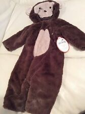 Pottery Barn Kids Baby Monkey Halloween Costume 0-6 Months NWT! Soft Purim
