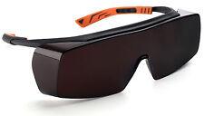 Univet 5X7 Ultimate Overspecs Italian Safety Amber Work Glasses  (5X7.01.00.09)