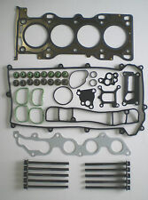 HEAD GASKET SET BOLTS FORD MONDEO MAZDA 6 1.8 DURATEC 2000 on METAL ROCKER BOX