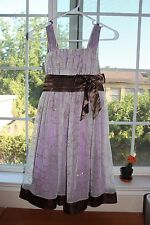 My Michelle Kids Big Girls Glitter Tulle Purple Bow Party Holiday Dress Size 10