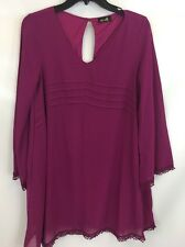 Dee Elle Women's Purple 3/4th Sleeve Dress Sz M I929