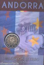 Andorra 2 Euros 2015 Acuerdo aduanero @ Novedad Julio 2016 @ 4ª emisión @