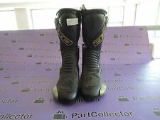 NEW AXO MOTORCYCLE MOTO RACING RACE BOOTS BLACK/GREY SIZE US 8 EUR 42