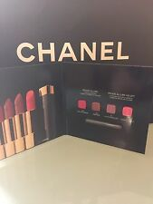 Chanel Rouge Allure & Rouge Allure Velvet Lipstick. Sample, 4 Colour