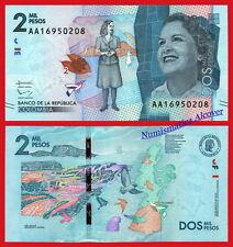 COLOMBIA 2000 Pesos 2015 (2016) Debora Perez Pick NEW SC / UNC