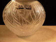 NEW NIB LALIQUE CRYSTAL FILICARIA FROSTED VASE MADE IN FRANCE 1240000