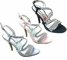 Women's Wedding Sandal Evening Prom Party Shoe Wholesale JobLot of 3 Pairs Pink