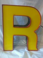 "Vintage Large Marquee Letter ""R"" Yellow and Red"