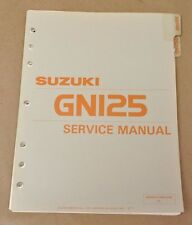 Vtg 1983 Suzuki GN125 D Maintenance Repair Shop Service Manual 99500-31000-03E