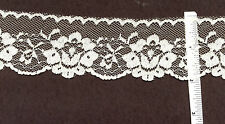2 inch wide CREAM lace trim 35 yds (D618)
