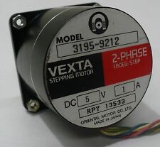 VEXTA MODEL 3195-9212 2-PHASE 1.8 DEG PER STEP STEPPER MOTOR STEPPING