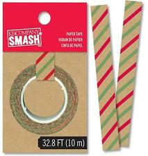 NEW SMASH BOOK HOLIDAY STRIPE WASHI TAPE 32 FT - Journaling, Scrapbooking