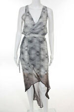 Gypsy Gray Silk Tie Waist High Low Dress Size Extra Small $298 NEW