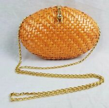 "VINTAGE RODO ""Romualdo Dori"" Italy Vintage Wicker and Gold Evening Bag"