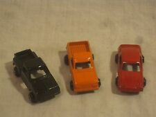 3 x vintage metal vehicles Tootsie Tootsietoy Chevy Side Step truck Firebird