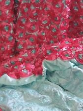 Ribbon Flowers Satin Fabric Sculptured Special Occasion Hot Pink  BFab