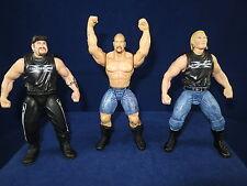 Lot of 3 Wrestling Action Figures 1998 Steve Austin Road Dogg Billy Gunn D-GenX