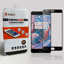 Ultimate Shield Tempered Glass Screen Protector for OnePlus 3 (Black)