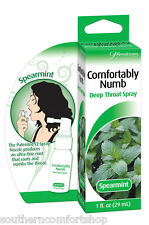 Comfortably Numb Deep Throat Spray Spearmint 1oz 29mL by Pipedream