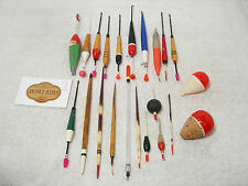Vintage Collection of Cork Wood Quill Etc Coarse Fishing Floats x 22