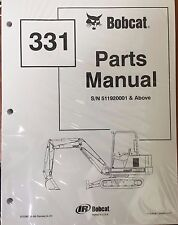 Bobcat 331 Series Parts Catalog Manual - Part Number # 6722867