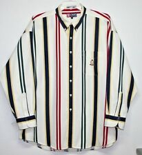 Chaps Ralph Lauren Men's Shirt Vintage Stripes 100% Heavywt Cotton Size XXL EUC