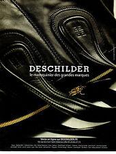 Publicité 2012  DESCHILDER sac à main marque collection vetement mode